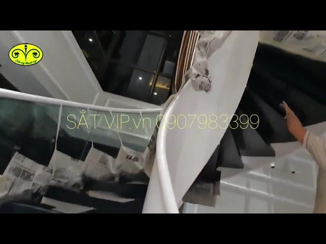 Thi công cầu thang xoắn hiện đại tại Sầm Sơn - Thanh Hóa - 0907983399