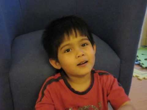 5-year-old boy sings happy birthday