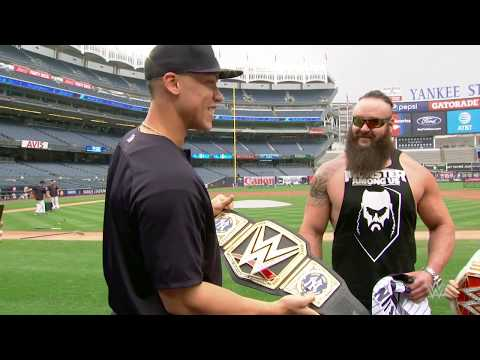 Thumbnail: New York Yankees All-Star outfielder Aaron Judge is presented with a custom WWE Championship