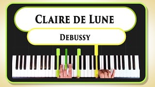 Learn to play Claire de Lune by Debussy on the piano - part 1