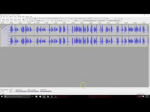 Cleaning up audio from a live event using Audacity