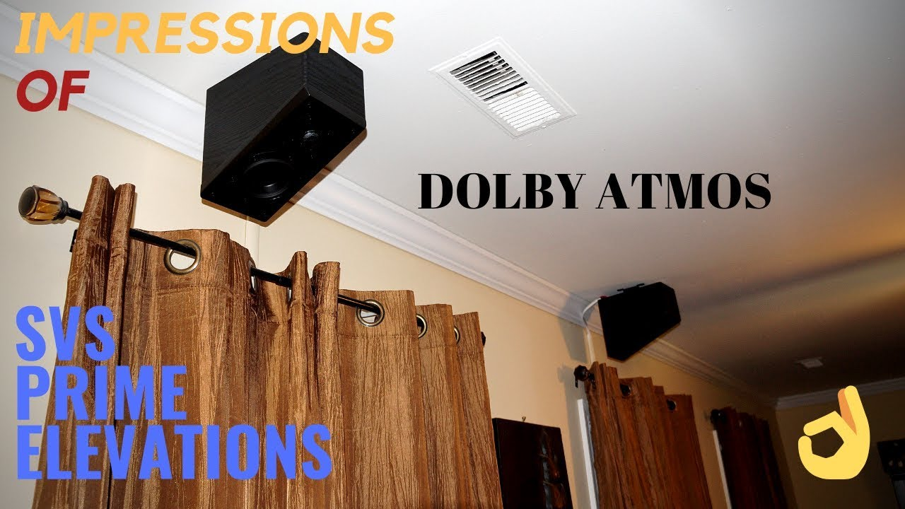 Dolby Atmos Impressions Svs Prime Elevation Speakers For Dolby Atmos