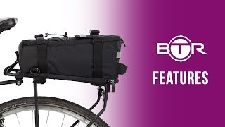 Deluxe Rear Rack Bike Bag (Pannier) by BTR🚲☔