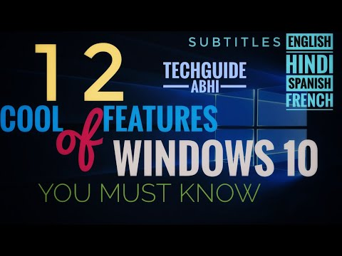 12 Cool Features of Windows 10 You MUST KNOW | TechGuide Abhi thumbnail