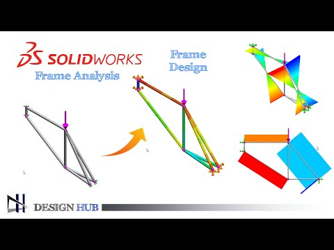 bicycle-frame-stress-analysis-|-solidworks-simulation-tutorial-|-design-hub|