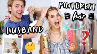MY HUSBAND RECREATES PINTEREST HAIRSTYLES! | Aspyn Ovard