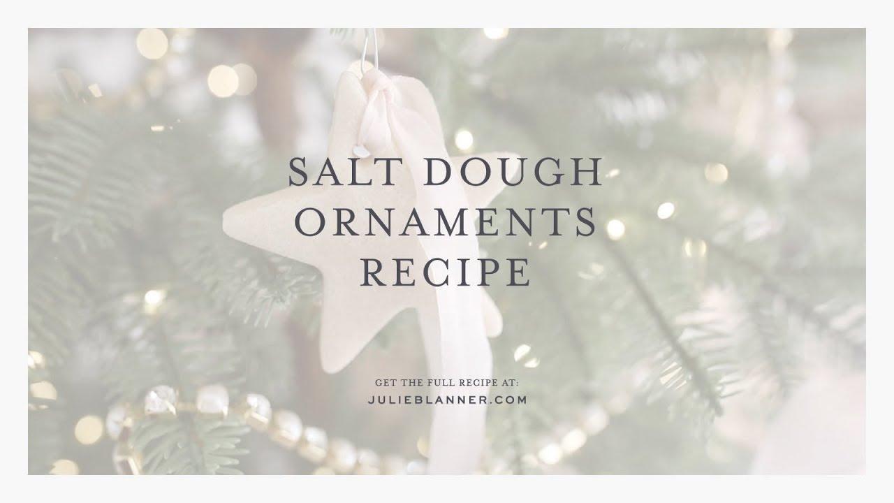 Dough Christmas Ornament Recipe