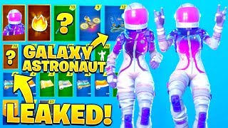 "*NEW* ""GALAXY VOYAGER"" Skin Showcase with LEAKED Emotes..!! (Fortnite Custom Skin)"