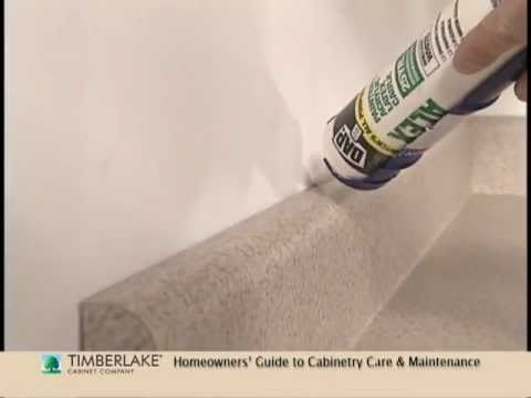 Caulking Gaps A Homeowner HowTo YouTube Adorable Caulking Kitchen Backsplash