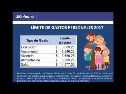 ANEXO GASTOS PERSONALES EN LINEA 2017 - YouTube