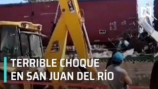 Tren embiste autobús de pasajeros en San Juan del Río Querétaro - Las Noticias