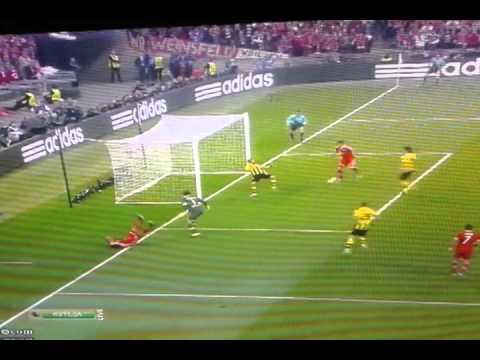 Боруссия Vs Бавария 0:1 Final. Первый Гол.