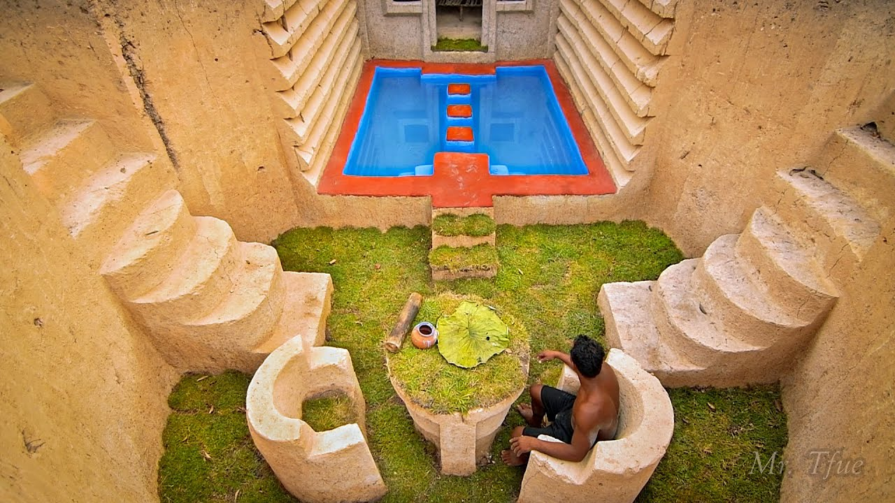 How I built The Biggest Underground Pools & Tunnel House in the World