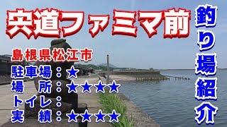 山陰釣り場紹介 part.67:宍道ファミマ前 島根県松江市