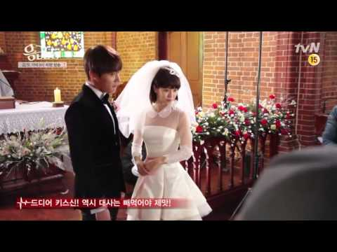 SongJihyo Kiss Scene behind the scene 5 of Emergency Man and Woman