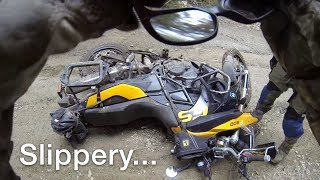 Slippery trails, bent thumbs and the return of the douche rope.