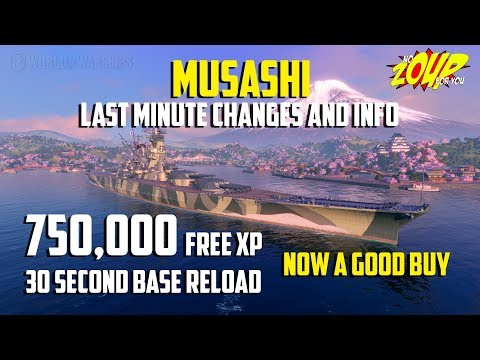 Musashi Last Minute Changes Make it a Good Buy - World of Warships