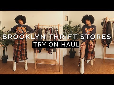 WHERE TO THRIFT IN BROOKLYN? Try On Haul || WINTER FASHION