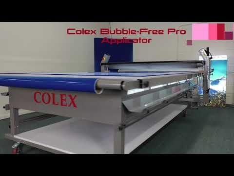 Colex Bubble-Free Flatbed Applicator