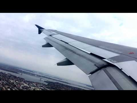Airbus A320 takeoff from LGA, LaGuardia Airport, New York City, A320-OW