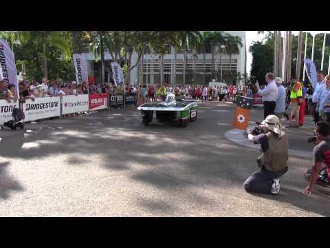 World Solar Challenge 2013 (world solar car race) Starting From Darwin, Australia, on Oct. 6, 2013