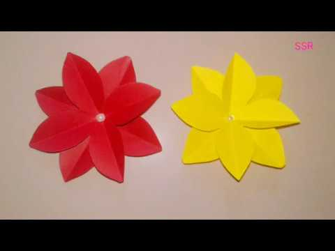 DIY craft | how to make easy paper flower | paper flower craft | easy flower cutting