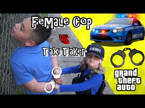 Cops and Robbers - Police Chase Airport Taxi Taker - Grand Theft Auto Charge