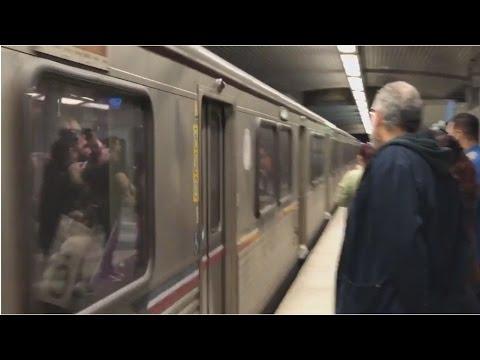 Línea de metro hacia Union Station colapsada