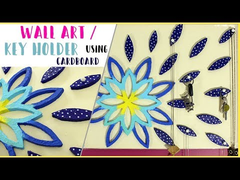 DIY : WALL ART / JEWELRY / KEY HOLDER using cardboard | BEST OUT OF WASTE