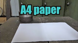Can you fold paper more than 7 times with hydraulic press thumbnail