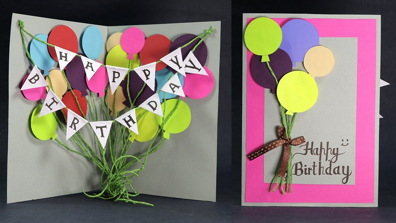 Diy Birthday Card How To Make Balloon Bash Birthday Card Step By Step