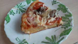 Пицца на сковороде.  Без сметаны.