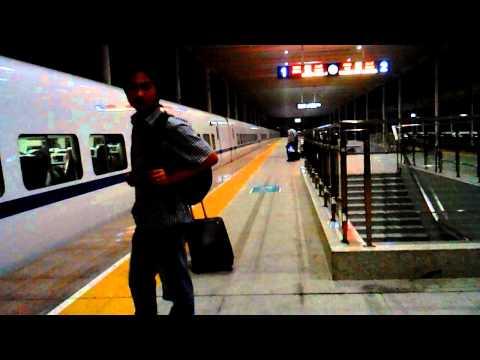 Visit to Yixing-Back to Nanjing, at Yixing Railway station