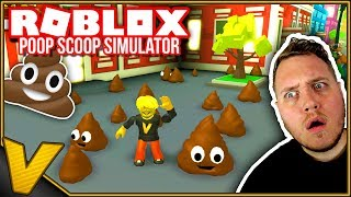 SHIT ALL OVER! 💩:: Poop Scoop Simulator Roblox Deutsch