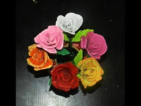 Recycled diy rose flowers made with tissue paper rolls youtube mightylinksfo Choice Image