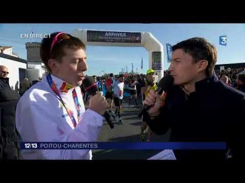 Interview de Vincent Migné à la fin du marathon de La Rochelle 2017
