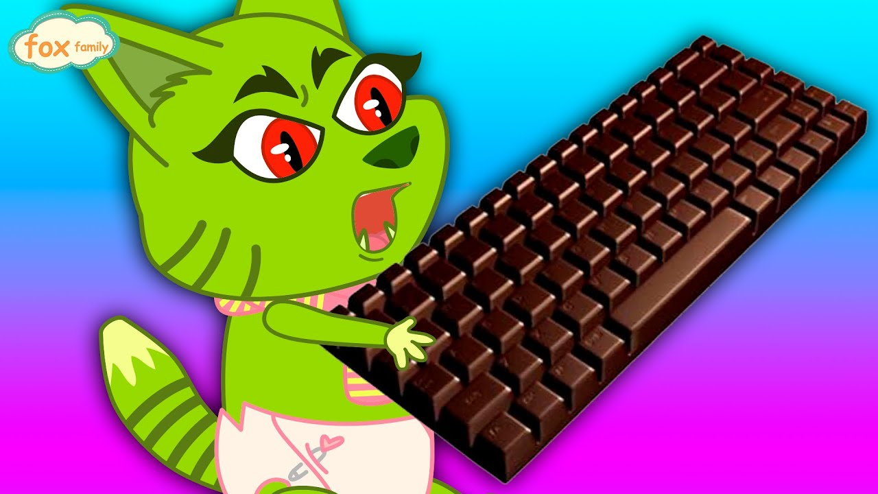 The Fox Family and friends eat chocolate keyboard - cartoon for kids new full episode #898