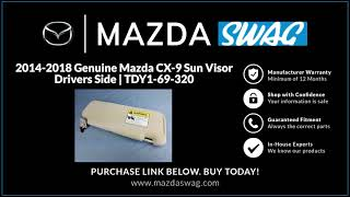 Newsmarts Left Driver Side Sun Visor Sunshade for Mazda CX-9 2010-2015 Replace Part #: TDY1-69-320