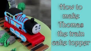 Repeat youtube video How to make Thomas the train fondant figure tutorial / Jak zrobić figurkę ciuchci Tomek
