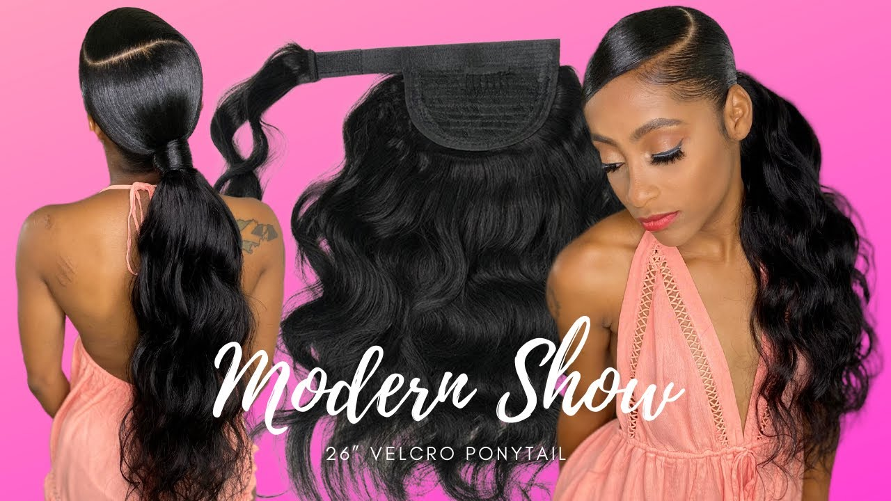 Download CHEAT Sleek Ponytail   Quickest Velcro Ponytail Install using Modern Show Hair