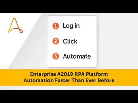 Automation Faster Than Ever Before | Automation Anywhere Enterprise A2019 RPA