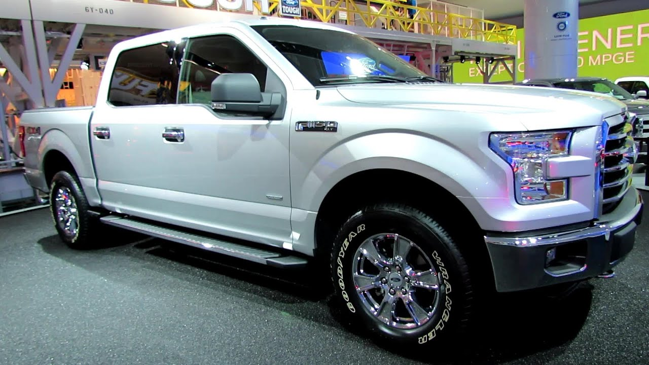 2015 Ford F150 XLT   Exterior And Interior Walkaround   Debut At 2014  Detroit Auto Show   YouTube