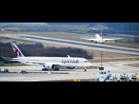 5* Aircraft For A 5* Airline! Qatar Airways Airbus A350-900 Departure From Zurich Airport