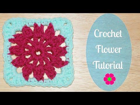 Flower Granny Square Crochet Tutorial - Crochet Jewel