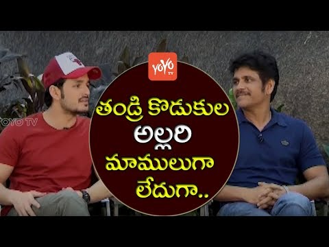 Akkineni Nagarjuna and Akhil Akkineni Superb Exclusive Interview About Hello Movie | YOYO TV Channel