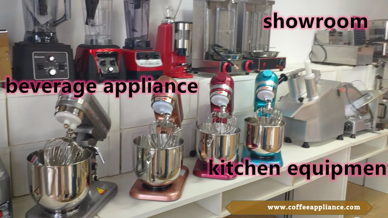 Check our showroom of kitchen equipment