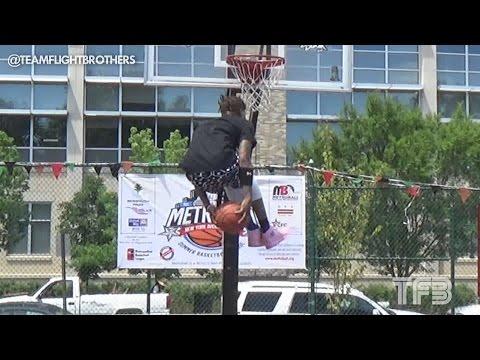 Jordan Southerland UNDER BOTH LEGS DUNK!!! ESPN City Slam Practice