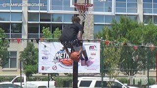 Jordan Southerland UNDER BOTH LEGS DUNK!!! ESPN City Slam Practice Video