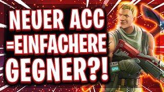 🆕💩NEUER ACCOUNT = SCHLECHTE GEGNER?! | Gibt es ein Skillbased Matchmaking in Fortnite?!