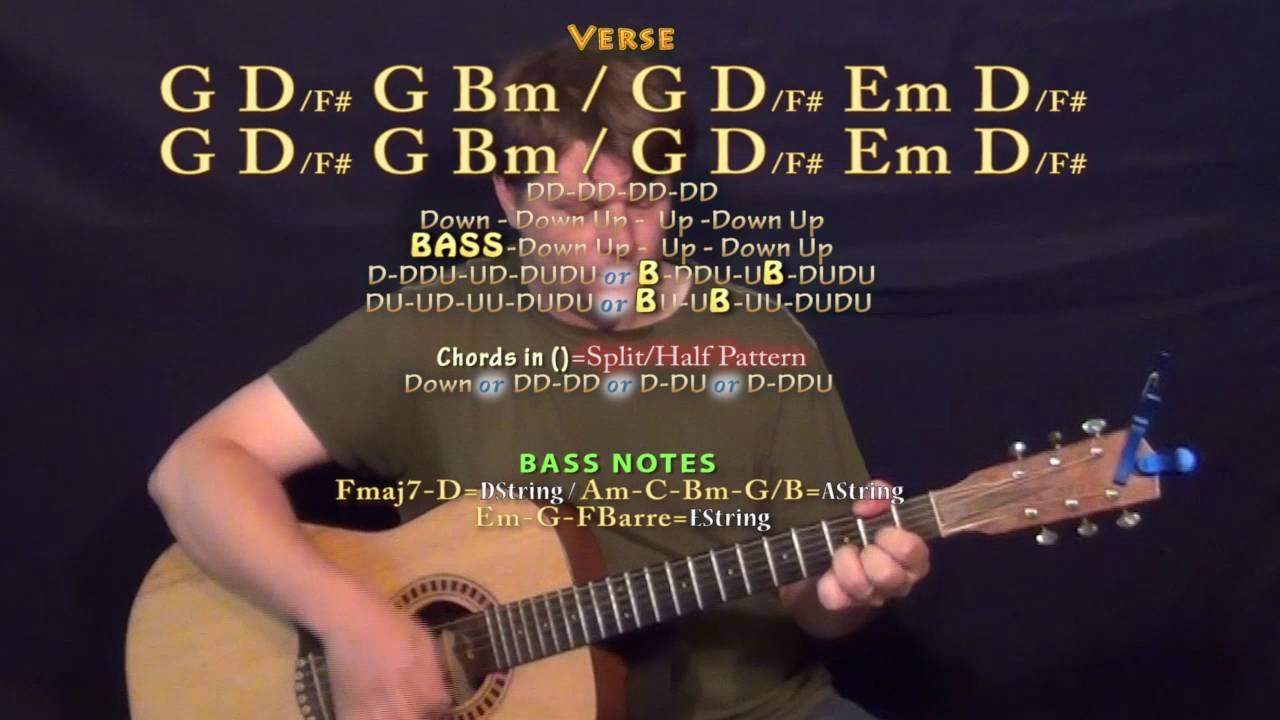 Too Good Drake Guitar Lesson Chord Chart G D Em Bm Youtube